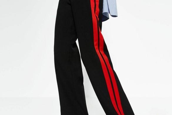 Olivia Palermo chic en pantalon Zara