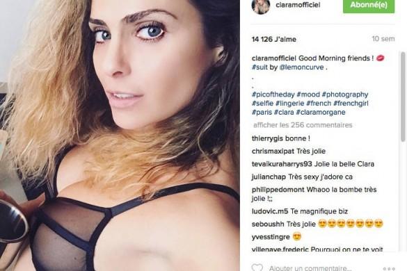 Clara Morgane réchauffe l'hiver en 10 selfies brûlants